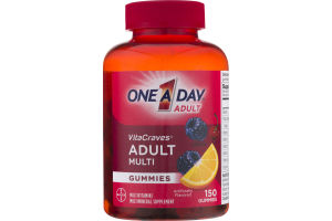 One A Day Adult VitaCraves Adult Multi Gummies Multivitamin/Multimineral Supplement Gummies - 150 CT