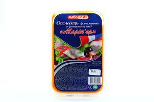 Оселедець РыбоLove філе-шматочки в француз соусі 200г