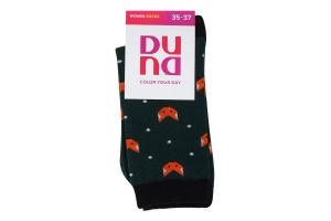 Шкарпетки жіночі Duna №3138 21-23 темно-зелений