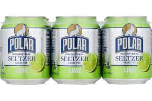 Polar Seltzer Water Lime - 6 CT