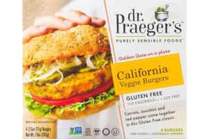 Dr. Praeger's Purely Sensible Foods California Veggie Burgers - 4 CT