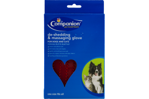 Companion De-Shedding & Massaging Glove for Dogs and Cats