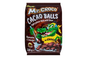 Сніданки сухі кульки з какао Mr.Croco Золоте Зерно м/у 500г