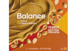 Balance Peanut Butter Nutrition Bar - 6 CT