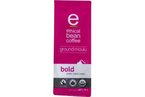 Ethical Bean Coffee Ground Arabica Coffee Bold Dark