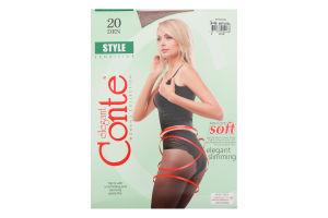 Колготки жіночі Conte Style №8С-73СП 20den 3 natural