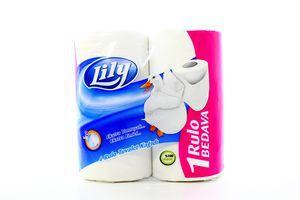 Бумага туалетная 2-х слойная Lily 4шт