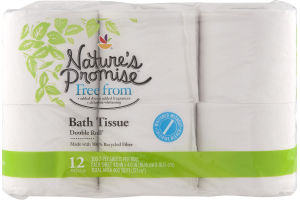 Nature's Promise Bath Tissue Double Rolls - 12 CT