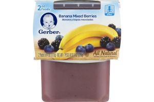 Gerber 2nd Foods All Natural Banana Mixed Berries - 2 CT