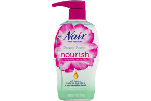 Nair Hair Remover Shower Power Nourish For Legs & Body Cherry Blossom