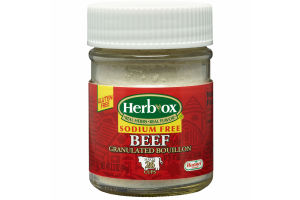 Herb-Ox Sodium Free Granulated Beef Bouillon, 3.3 Ounce
