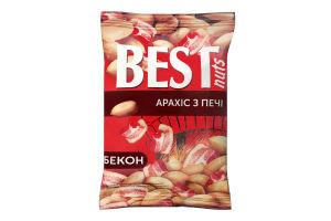 Арахіс смажений солоний зі смаком бекону Best nuts м/у 80г