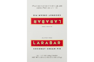 Larabar The Original Fruit & Nut Food Bars Coconut Cream Pie - 16 CT