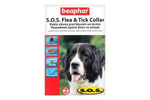 Ошейник против блох и клещей для собак от 6мес S.O.S. Beaphar 1шт