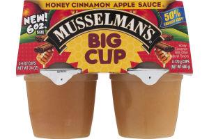 Musselman's Big Cup Honey CInnamon Apple Sauce - 4 CT