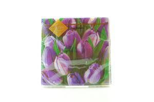 Серветки Luxy паперові Тюльпан біла 33*33см 20шт