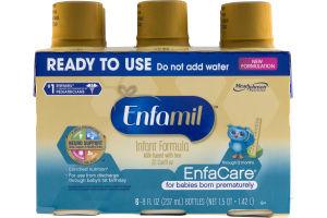 Enfamil EnfaCare for Babies Born Prematurely Infant Formula Bottles - 6 CT