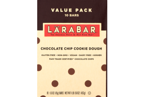 Larabar Fruit & Nut Food Bar Chocolate Chip Cookie Dough - 10 CT