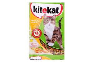 Корм сухой для взрослых котов Курочка аппетитная Kitekat м/у 400г