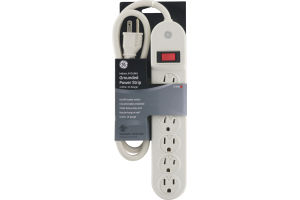 GE Indoor, 6-Outlet Grounded Power Strip