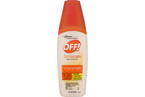 OFF! Family Care Insect Repellent IV Unscented With Aloe Vera