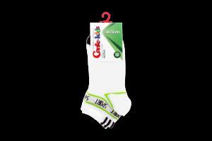 Шкарпетки дитячі Conte Kids №13C-34СП 22 білий-салатовий
