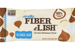 NuGo Fiber d'Lish Soft Baked Delicious Treat Blondie Bar