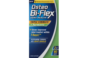 Osteo Bi-Flex Joint Health Triple Strength + Turmeric - 80 CT