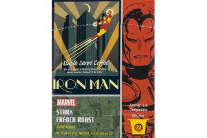 White Coffee Marvel Iron Man Stark French Roast Cups - 10 CT