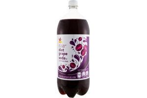 Ahold Diet Soda Grape Caffeine Free
