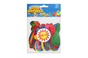 Кульки надувні асорті №1111-5105 Пастель Весела Витівка 18см 30шт