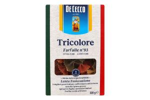 Вироби макаронні Farfalle Tricolore De Cecco к/у 500г