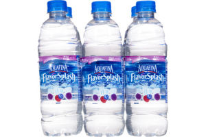 Aquafina Flavor Splash Naturally Flavored Wild Berry Water Beverage - 6 PK