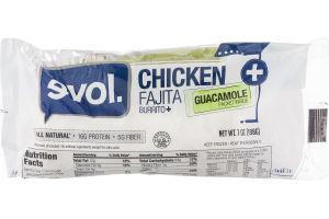 evol. Chicken Fajita Burrito + Guacamole