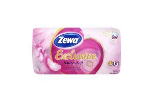 Туалетний папір Zewa Exclusive Ultra Soft 4 шари, 8 рулонів