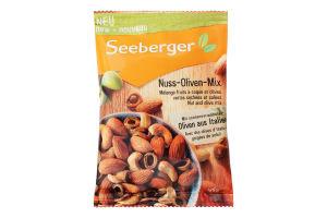 Суміш смажених горіхів і солоних сушених оливок Seeberger м/у 125г