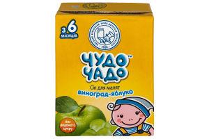 Сок для детей от 5мес Виноград-яблоко Чудо-Чадо т/п 0.2л