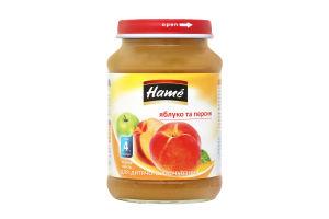 Пюре для детей от 4мес Яблоко и персик Hаme с/б 190г