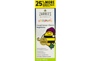 Zarbee's Naturals Children's Cough Syrup + Mucus Nighttime Grape