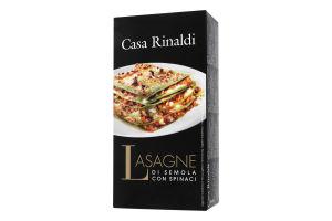 Лазанья з твердих сортів пшениці зі шпинатом Casa Rinaldi к/у 500г