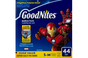 GoodNites Bedtime Pants Size 4-8 - 44 CT