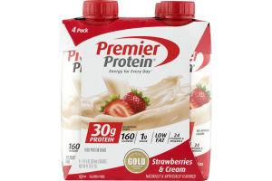 Premier Protein Shake Strawberries & Cream - 4 PK