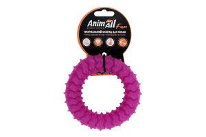 Снаряд тренувальний для собак 12см фіолетовий №88154 Кільце з шипами Fun AnimAll 1шт