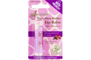Out Of Africa Pure Shea Butter Lip Balm With Vitamin E Pomegranate + Acai