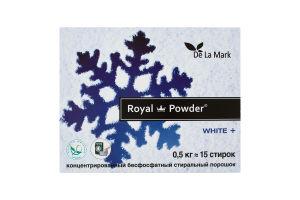 Порошок стиральный концентрированный бесфосфатный White+ Royal Powder 0.5кг