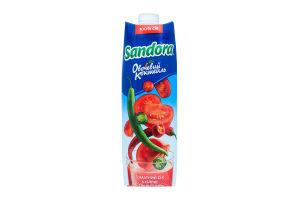 Сок томатный с солью Пикантный Овощной коктейль Sandora т/п 0.95л