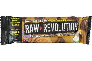 Raw Revolution Super Food Bar Chunky Peanut Butter Chocolate