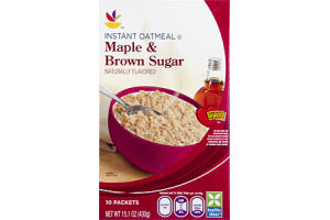 Ahold Instant Oatmeal Maple & Brown Sugar - 10 CT