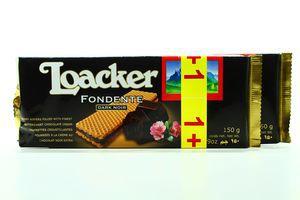 Вафлі Loacker чорний шоколад 150г х18