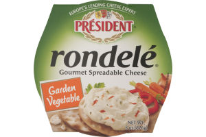 President Rondele Gourmet Spreadable Cheese Garden Vegetable